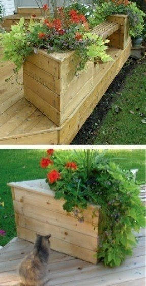 Planter box bench plans