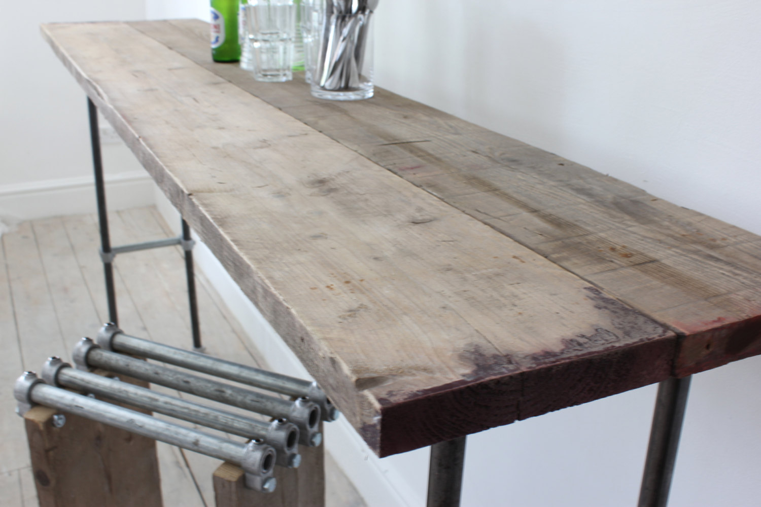 Reclaimed scaffolding boards and