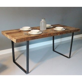 Reclaimed urban wood rustic dining table