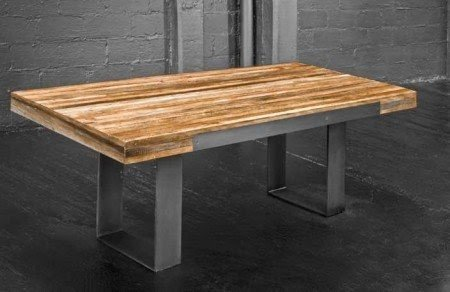 Reclaimed Wood Dining Table Metal Legs