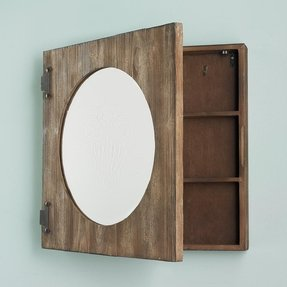 Round mirror wood frame 3