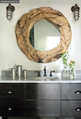 Round mirror wood frame 4