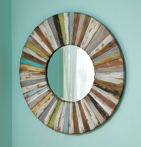 Round mirror wood frame 5