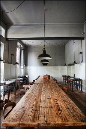 Rustic wood and metal dining table 4