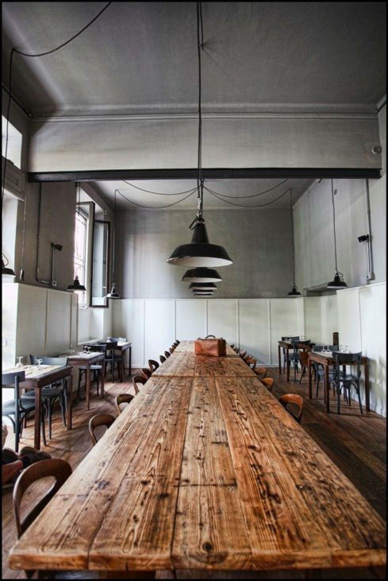 Ordinaire Rustic Wood And Metal Dining Table 4