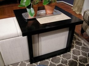 Small Ottoman Coffee Table Ideas On Foter