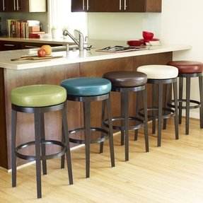 Teal counter stool