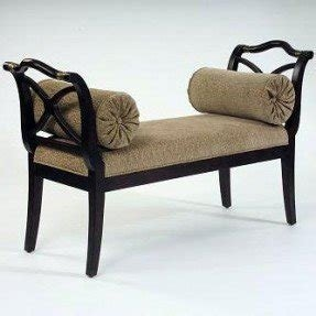 Upholstered benches with arms 2