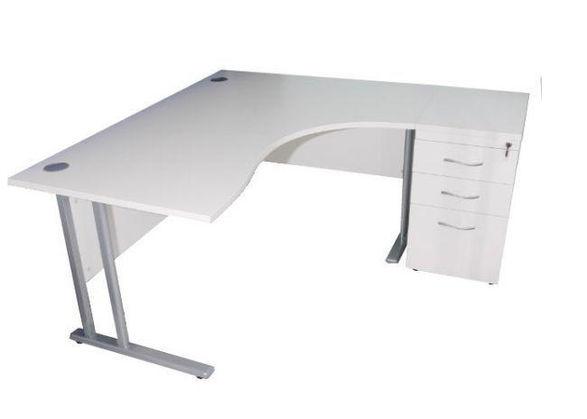 Delicieux White L Shaped Desk 1