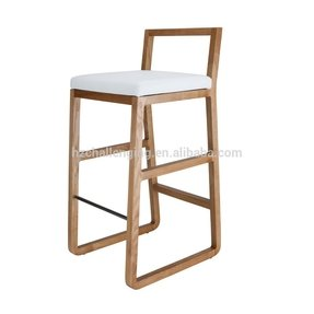 Wood and leather bar stools 8