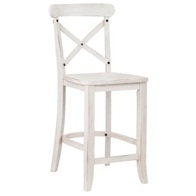 Wood High Back Bar Stools 6