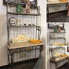 Wrought iron bakers rack 4