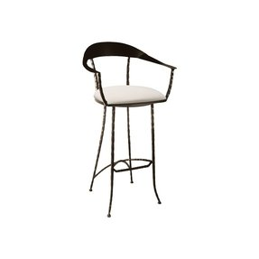 Wrought iron counter height stool