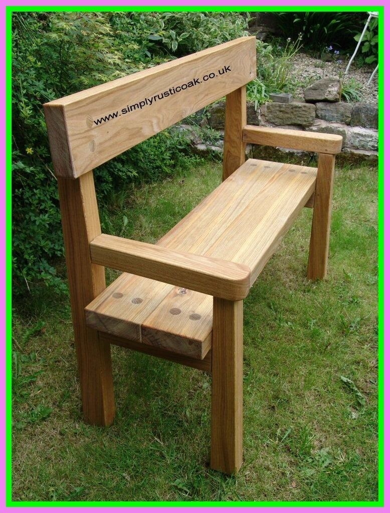Simple, Rustic Bench Will Be Great Furniture In Your Garden. Back Rest And  Arms Provides Perfect Comfort And Support To Your Body. Light Color Allows  You To ...