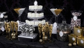 Black and white candy table ideas