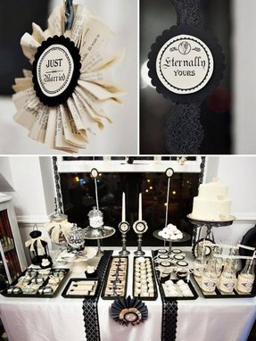 Black and white candy table