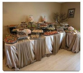 Black white candy buffet ideas