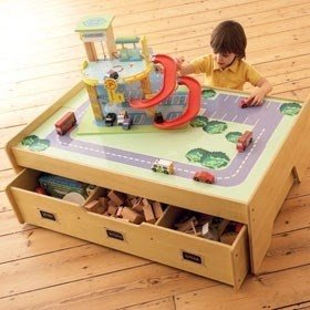 Childrens play table with storage 16