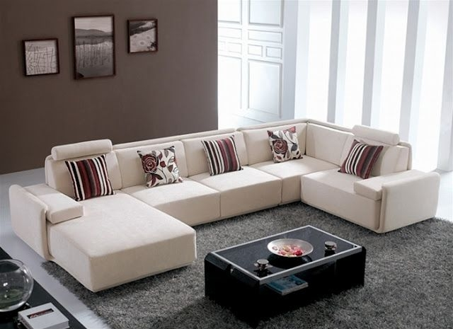 Bon Contemporary Microfiber Sectional Sofa 2
