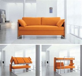 Convertible sofa with chaise