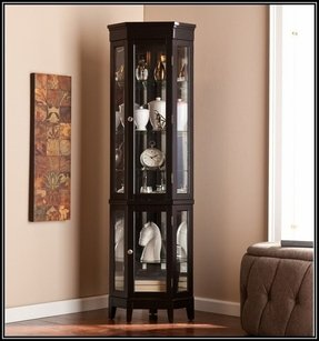 Super Corner China Cabinet Black - Foter WK17