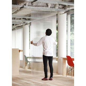 hanging panel room divider foter. Black Bedroom Furniture Sets. Home Design Ideas