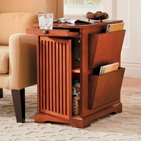 End tables with magazine rack 1