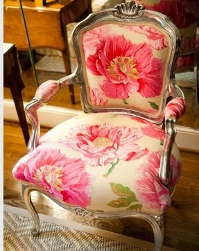 Floral upholstered chair 10