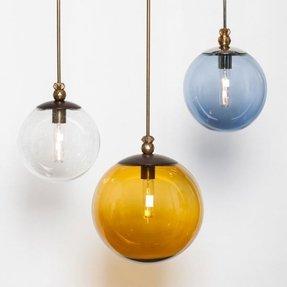Glass globe pendant light foter glass globe pendant light 11 aloadofball Images