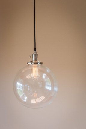 Glass globe pendant light foter glass globe pendant light 7 aloadofball Gallery