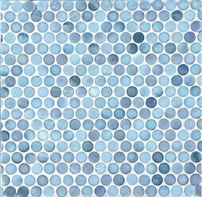 Glass penny tile