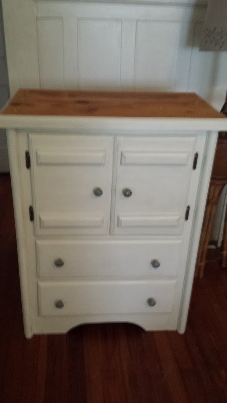 Kitchen Island With Cutting Board Top From Old Dresser Jimmys