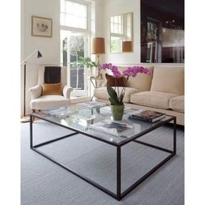Large glass coffee tables 1