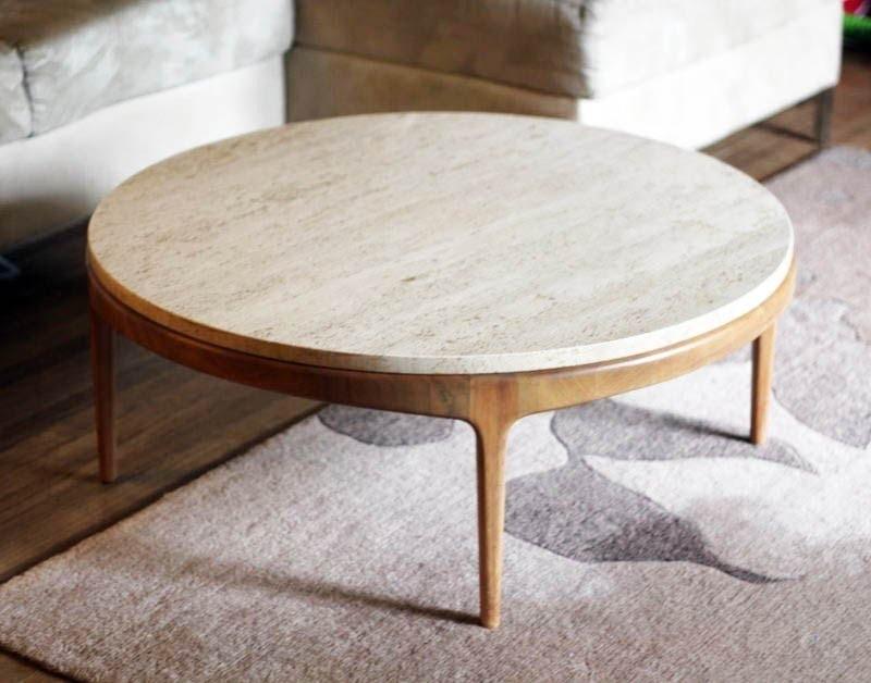 Round Coffee Table On Photo of Custom