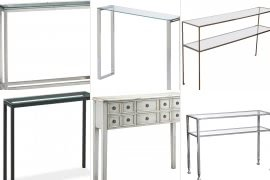 Narrow Glass Console Table