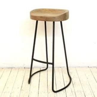 Outdoor wooden bar stools 10