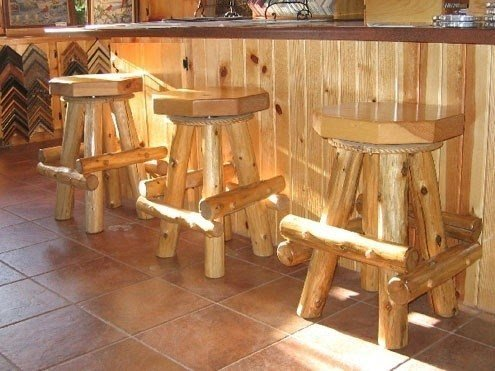 Great Outdoor Wooden Bar Stools 9