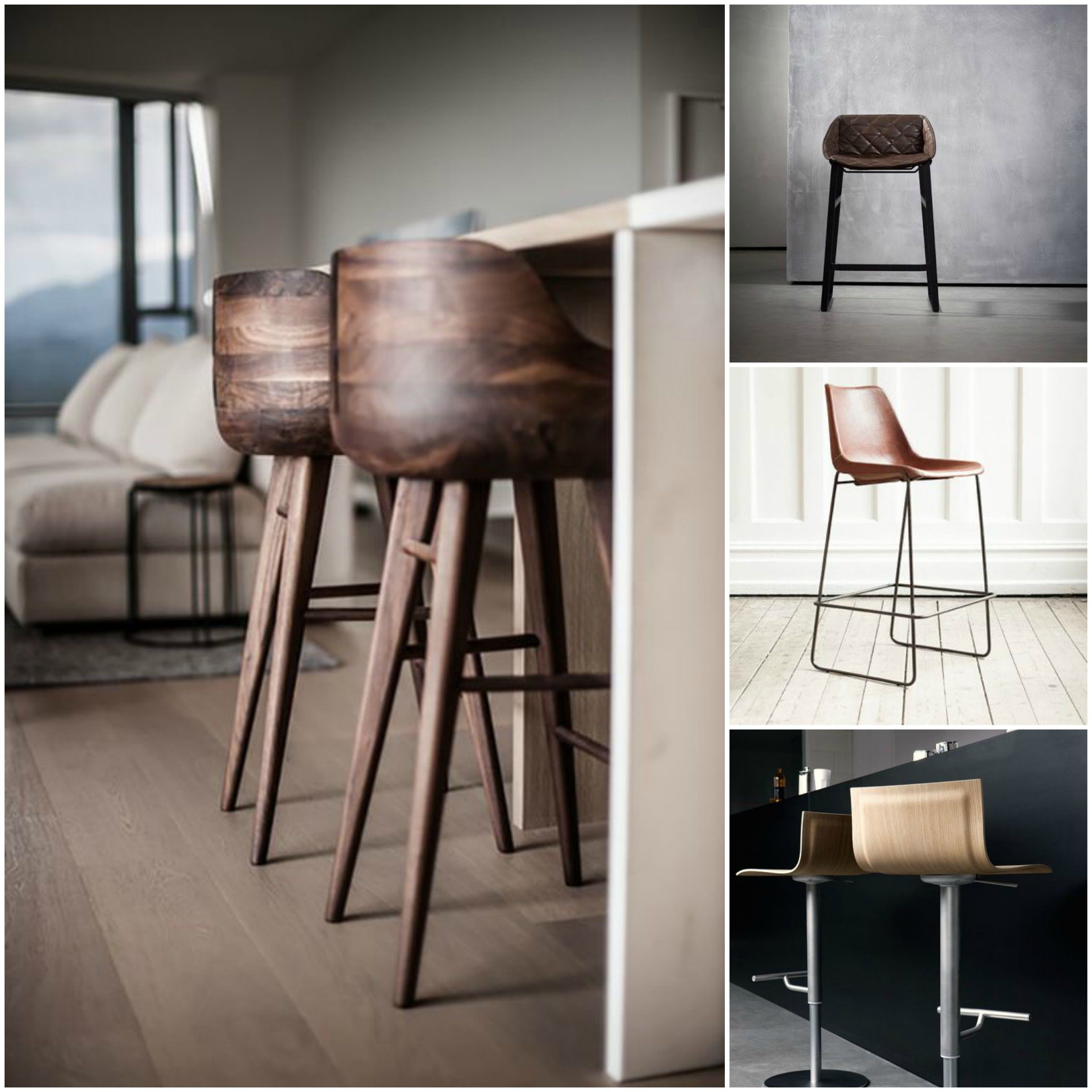 Outdoor wooden bar stools