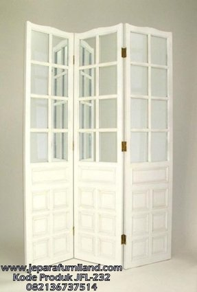 Room divider with mirror 3