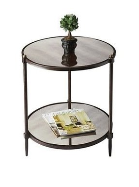 Round mirrored side table 5