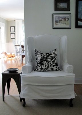 Slipcover wingback chair