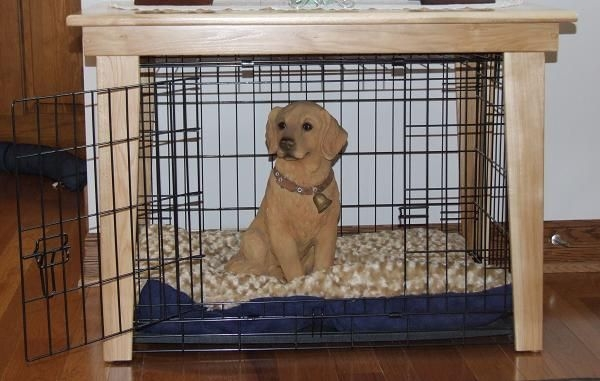 Beautiful Small Wooden Dog Crate