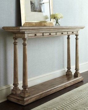 Narrow Console Table With Antique Finish It Is Completely Made Of Wood Base Ed 4 Drawers For Storing Personal Items
