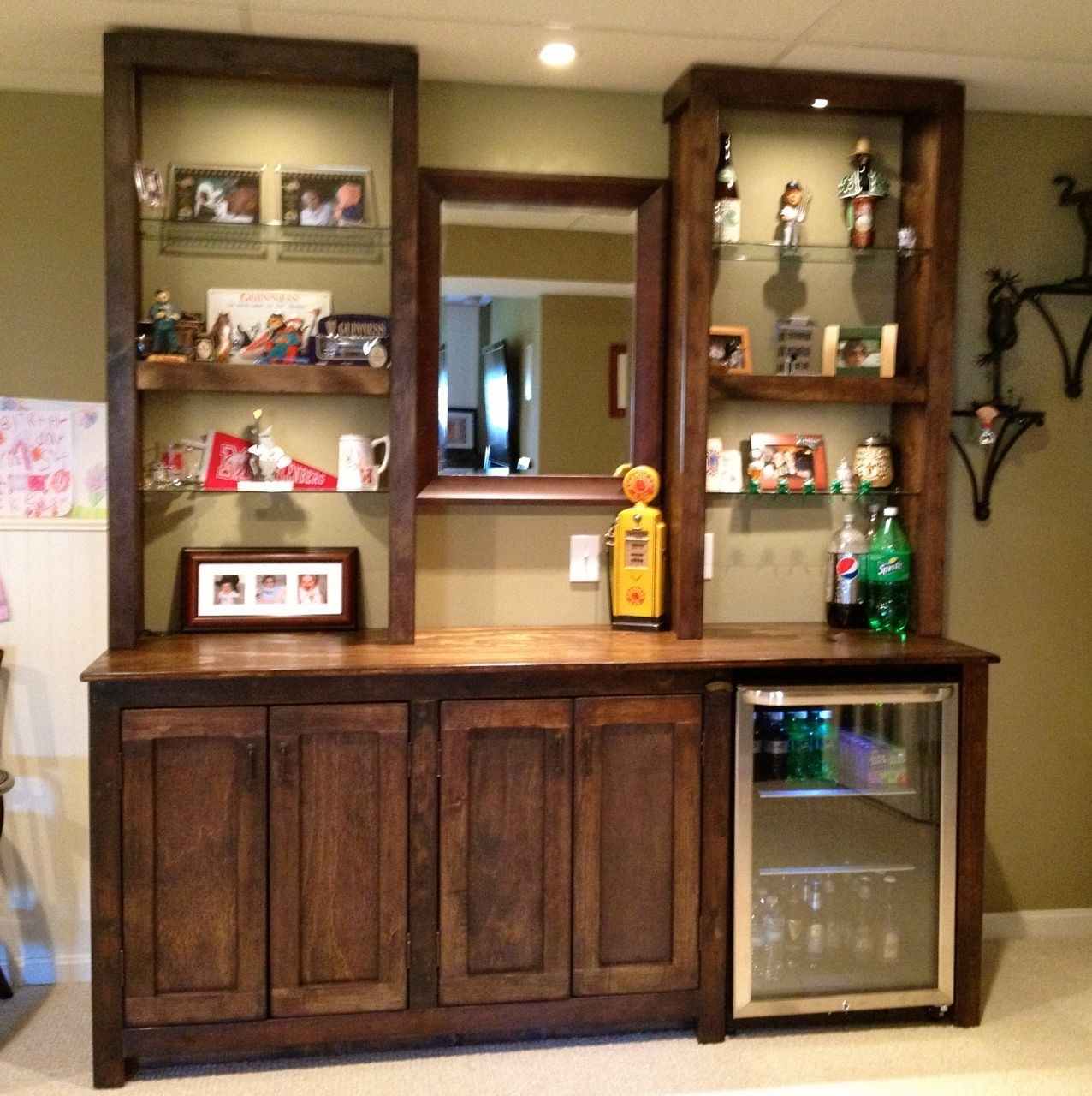 Wall Mounted Wine Cabinet 22