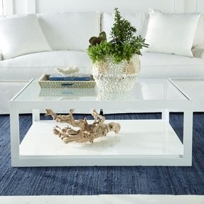 White coffee table with glass top 6
