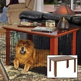 Wood dog crate table 1