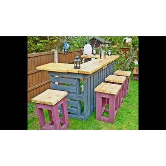 Wooden outdoor bar