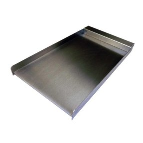 12 in stainless steel drop on griddle plate