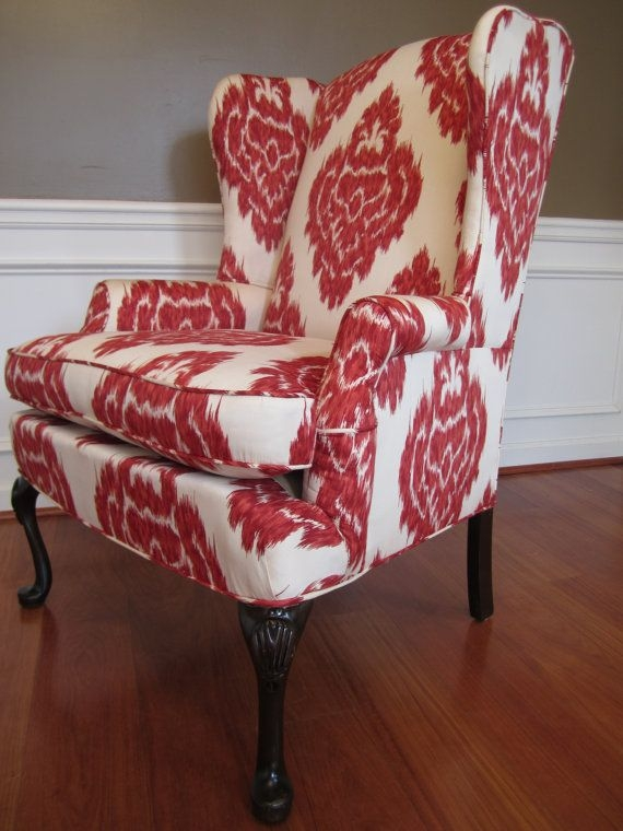 Merveilleux Accent Chairs Red