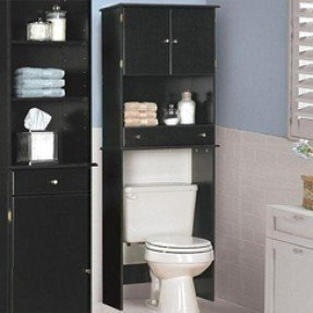 Attrayant Black Over The Toilet Storage